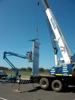 Installing Pylon Sign