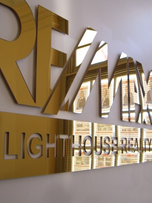 3D Acrylic Reception Lettering