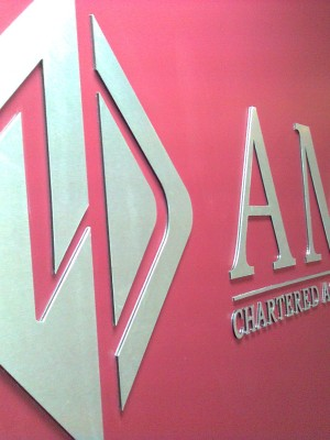 Brushed Aluminium Reception Sign
