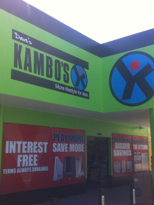 Kambos signwritten shop