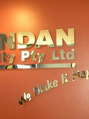 Acrylic Reception Lettering