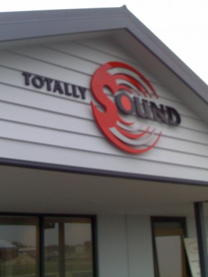 Totally Sound fascia 3D graphics